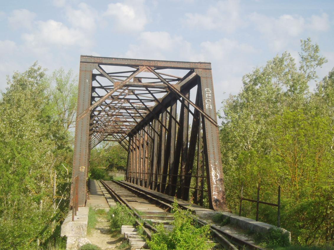 Puente de hierro sobre el Duero dentro del término de la Cistérniga