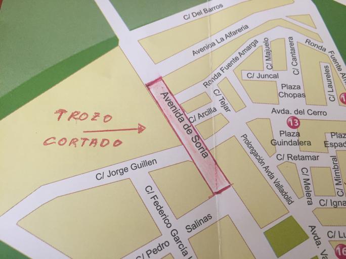 Corte tráfico en Avda. de Soria